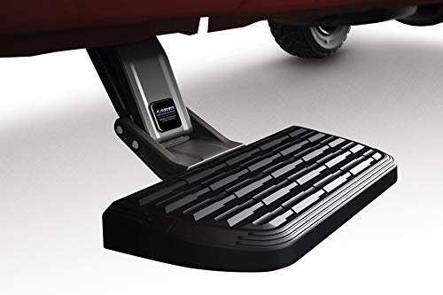 AMP Research 75412-01A BedStep2 Retractable Truck Bed Side Step for 2015-2018 Ford F-150 with 5.5' Bed,Black,Large