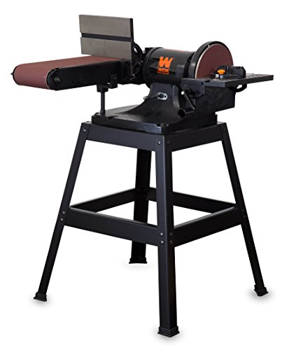 WEN 6508 6 x 48 in. Belt and 9 in. Disc Sander with Stand