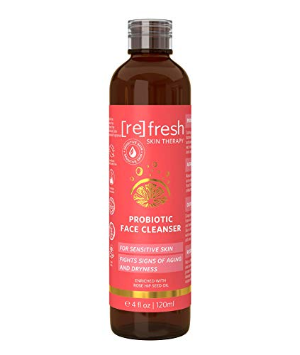 Vitamin-C Deep Face Exfoliating Cleanser - Pre Peel Rose Gel Hydrating Facial Cleanser - Castile Soap with Rose Hip Seed Oil - Prepare Skin for Professional Exfoliation 4 oz