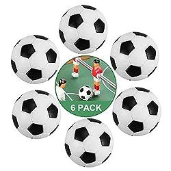 ZAWTR Kickerbälle 32 mm, 6 Stück Tischfußball Bälle Klein Mini Tischkicker Fußball Ball, Kicker Bälle aus ABS Kunststoff ideal für Kinder und Erwachsene Tischfussballbälle Spiel (Schwarz und Weiß)