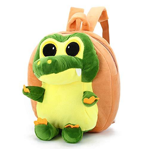 XMYNB Kindergarten Rucksack Cartoon Nettes Plüschtier Kleines Krokodil Kinder Rucksack Gelb 24 * 6 * 24Cm
