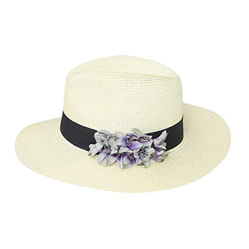 riou Sombrero de Paja de Verano para Mujer Sombrero de Playa Sombrero