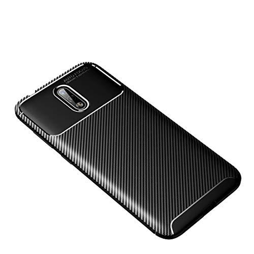 Shockproof LIJM For Nokia 2.3 Carbon Fiber Texture Shockproof TPU Case (Zwart) Decoratie (Color : Black)