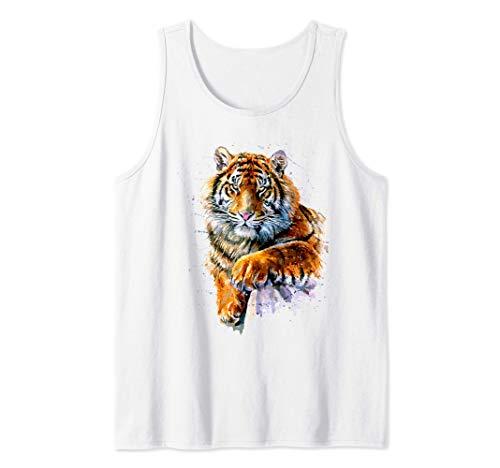 Tigre, Tigre pintado a mano Camiseta sin Mangas