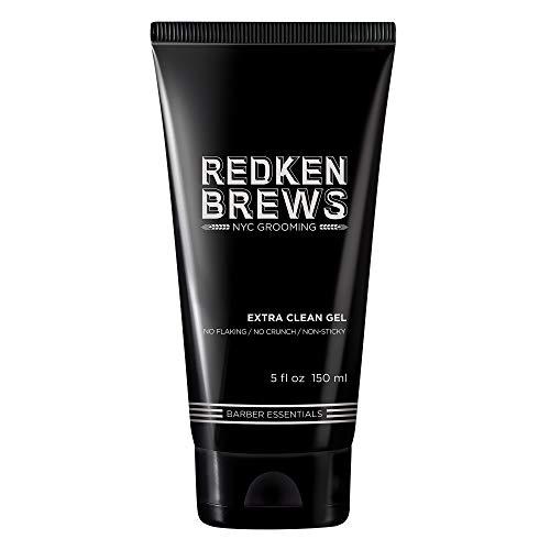Redken Brews Extra Clean Gel für einen naturbelassenen Look ohne jegliche Rückstände, 150 ml