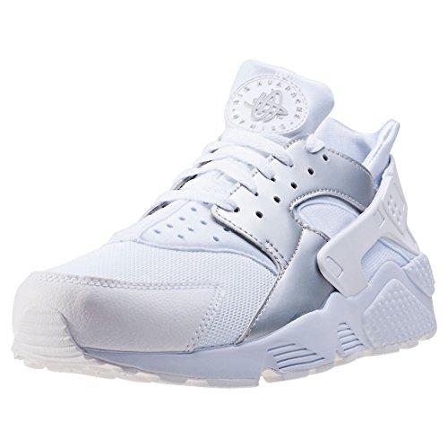 Nike Unisex-Erwachsene Zapatillas AIR Huarache White Silver METALLIC Fitnessschuhe, 41 EU
