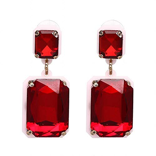 Yiiana Pendientes de moda Pendientes de gota para mujer Joyas Pendientes Pendientes de cristal Pendientes de diamantes, F