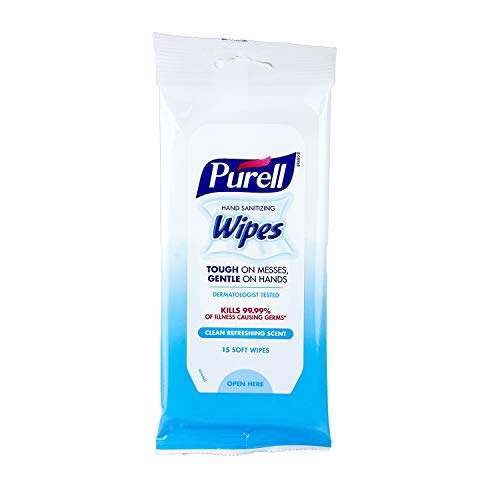 Purell - 9124-06-EC Hand Sanitizing Wipes, Clean Refreshing Scent, 20 Count...