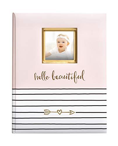 Pearhead Hello Beautiful - Libro de recuerdos para bebé (recuerdo de bautizo, bautizo), color rosa