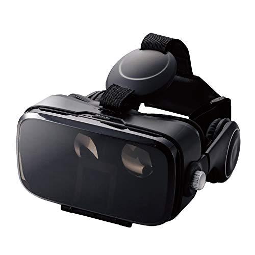 エレコム VRゴーグル VRヘッドセット ヘッドホン一体型 DMMで使えるポイント付 ピント調節 目幅調節 ブラック VRG-DEH01BK