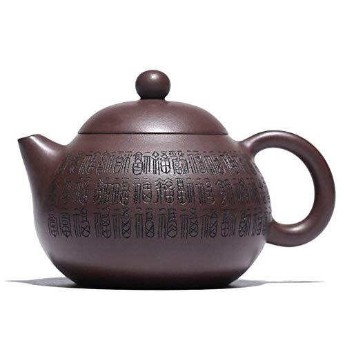 ADSE Tetera de Arcilla Morada Taza de té Huevos de dragón Colección Industrial y de Regalo de Mano (Color: Lodo Morado, Tamaño: Talla única)