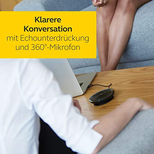 Jabra Speak 410 Konferenzlautsprecher – Unified Communications kompatibler tragbarer Lautsprecher mit USB-Anschluss – Plug-And-Play Installation