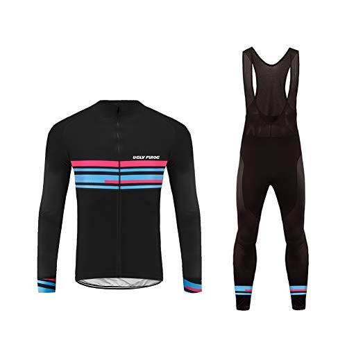 Future Sports UGLYFROG Bike Wear Sets de Ropa Bicicleta, Maillots Jersey Manga Larga & Pantalones Acolchados Hombre Respirable Cómodo Invierno Business Gifts