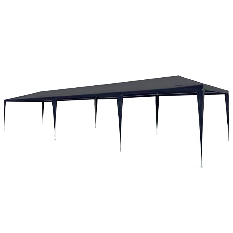 Festnight 10' x 30' Garden Outdoor Gazebo Canopy Pop Up Sun Steel Frame Shade Heavy Duty Patio Party Wedding Tent BBQ Camping Shelter Waterproof Pavilion Cater Events Blue