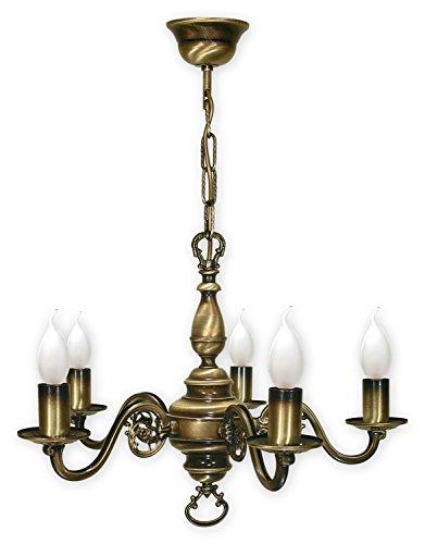 Kroneleuchter mit Kette , 5 flammig Deckenlampe , Lampe in Gründerzeit Stil , Deckenleuchte von Lemir aus Serie: Swiecznik Patina