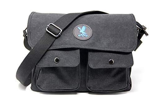 DAMT-fit Schultertasche (blau) Umhängetasche Arbeitstasche für Herren & Damen Studententasche Schultasche Messenger Bag Laptoptasche für Arbeit Büro 14'' Laptop Uni Reise