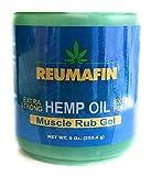 Reumafin Hemp Oil Muscle Rub Gel Extra Strong 9 Oz (255.4 G) - Big Size jar