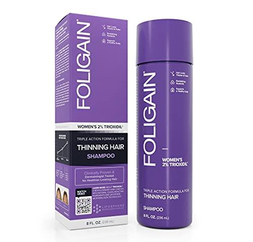 Foligain Shampoing Triple Action Cheveux Fin pour Femme...