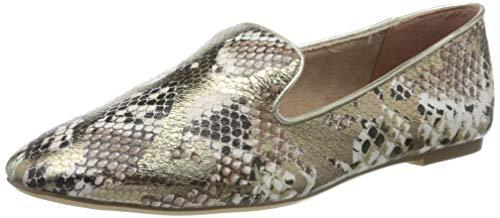 Tamaris Damen 1-1-24218-24 Slipper, Silber (Metallic Snake 908), 38 EU
