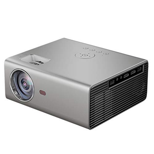 XLNB Portable Native 1280 * 720P Projector, LED Projector Support Full HD 1080P, 3D Video Home Cinema Beamer,White