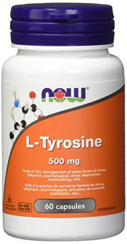 NOW L-Tyrosine 500mg (Freeform) 60 Capsules, 60 g