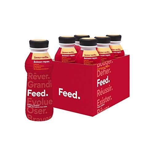 Comida lista para beber Vainilla. - Feed. Original - Paquete de 6 x 500ml - Listo para usar - 430 kcal por comida.