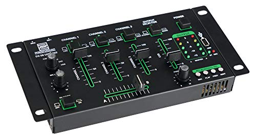 Pronomic DX-50 USB MKII - Mezclador de DJ con Bluetooth (4 canales)