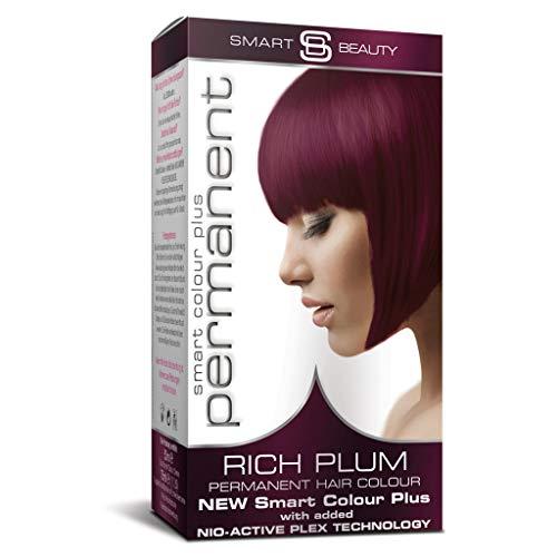Smart Beauty Permanent Haarfärbemittel, Salon Qualität Haarfarbe mit Smart Plex Haarbehandlung - Reich Plum, 150 Milliliter