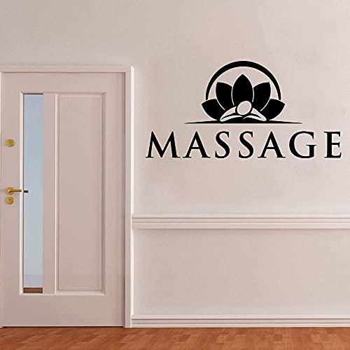 Excelente masaje yoga vinilo pegatinas de pared spa sala de yoga arte calcomanías calcomanías spa habitación pegatinas Mural A3 28x56cm