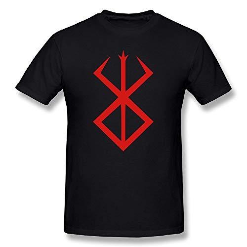 jjk Win-Tshirts Men's Berserk Symbol Logo T-Shirt,Camisetas y Tops(X-Large)