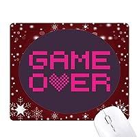画素の上にピンクのゲーム オフィス用雪ゴムマウスパッド