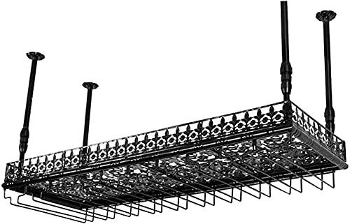 SACKDERTY Wine Rack Design Moderno Altura ajustável Metal/Ferro Wall Hanging Acessórios para casa Cremalheira de vinho 60/80/100 / 120cm Cabide de armazenamento (Tamanho: 80x35cm, Cor: pre