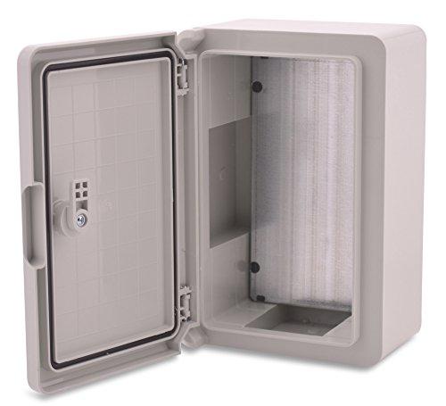 Caja de plástico ABS BOXEXPERT Caja de control de la flota IP65 gris/transparente (ABS, 300x200x130mm gris)