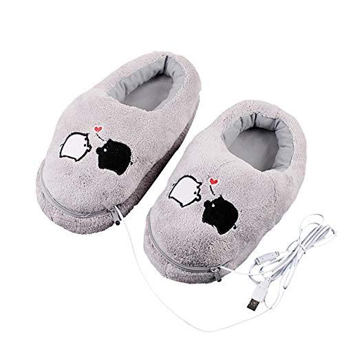precauti Scaldapiedi Elettrico USB Scarpe Calde Nere Scarpe riscaldanti per Ufficio Invernali Soletta