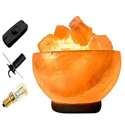 By Magic Salt ® Himalayan Salt fire Bowl with 1 Heart shape...
