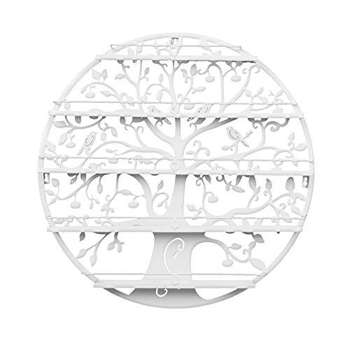 Dazone 5 Etagen Organizer Display Rack Aufbewahrung konzipiert von Tree of Life (Weiß)