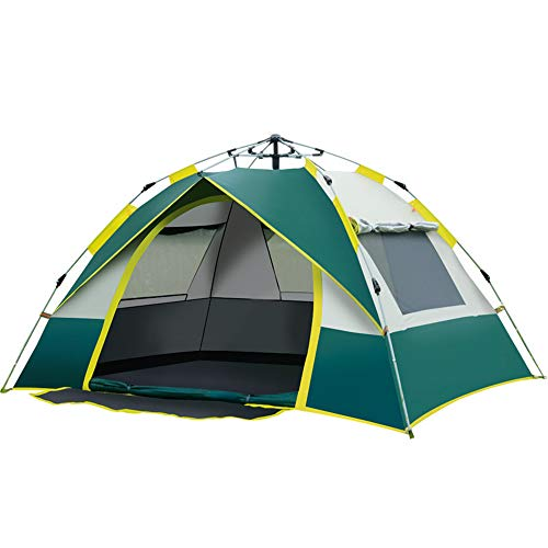Outdoor Automatic Quick-Opening Tent, Double-Layer Thickened Explosion-Proof Rain Tent, Double Camping Camping Tent, Ventilated and Breathable, Large Space, Rainproof, Sunscreen and Mosquito Fine Mesh
