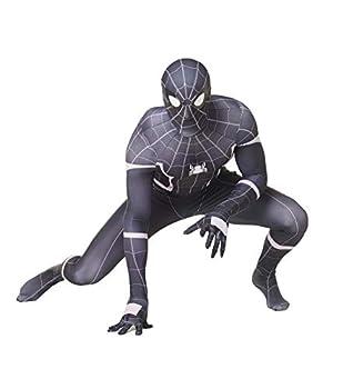 Black Spider Man Homecoming Adult/Kids Zentai Halloween Costume  Adult-Small Black Spider Man Homecoming