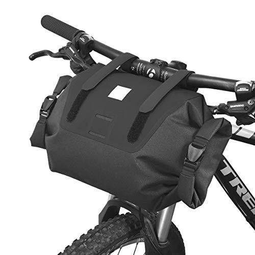 Bolsa impermeable 7 l ajustable de carretera de montaña bicicleta bicicleta bicicleta bicicleta bicicleta bicicleta manillar bolsa caja de herramientas, negro