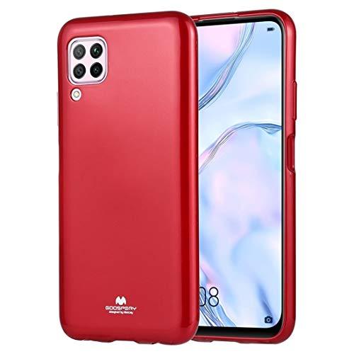 Caso Cobertura Completa de Jalea Funda Protectora Suave para Huawei P40 Lite (Color : Red)