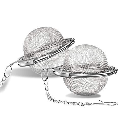 Infusore per il tè - Filtro per tè con filtro per tè in maglia di acciaio inossidabile per uso alimentare (confezione da 2, 4,5 cm)