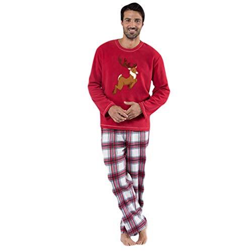 Xinwcang Pijamas Familia Pijamas Navideñas Adultos Pijama Familiares Manga Larga Hombre Mujer Niños Niña Chica Trajes Navideños Ropa de Noche Homewear