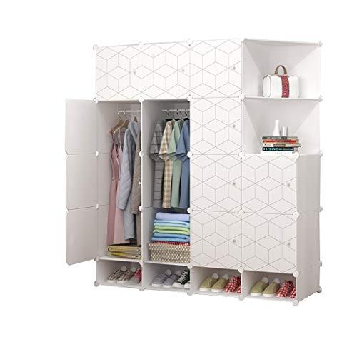 FANJIANI Kledingkast, eenvoudige kast, montagage, stoffen kast, opslagkast, slaapkamer, verhuur, opslag, afneembare imitatie, hout, kunststofdoek
