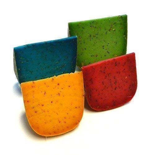 Gouda colorido Queso Mix Albahaca Tomate Lavanda Chile 1kg Pestokaese Pestogouda