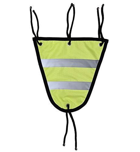 Esposita Reflex- Brustlatz gelb mit reflektierenden Streifen Gr.S