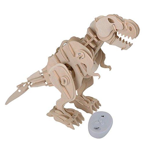 Legler - 6945 - Kit en bois avec télécommande - Dino-robot - T-Rex - 104 pièces
