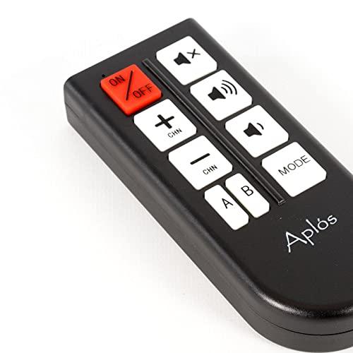 APLOS - Mando a distancia simplificado para TV universal con 8 teclas programables para personas con discapacidad visual, seniores/hoteles