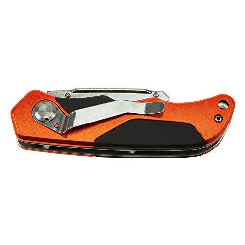 Klein Tools 44131 Folding Utility Knife, Heavy Duty, Triple Ground Blades Stay Sharp, Pocket Clip