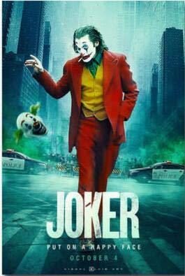 wtnhz Kein Rahmen Stil Film Joker Bilder Joaquin Phoenix Print Seidenposter für Ihr Zuhause Wanddekoration 40x60cm