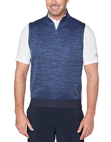 Callaway Performance Golfweste, wasserabweisend, 1/4 Reißverschluss, Viertelreißverschluss, Herren, Performance Water Repellent 1/4 Zip Golf Vest, Peacoat meliert, Medium